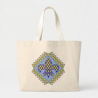 Fleur bleu et jaune de lis sac en toile jumbo