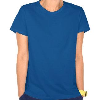 Fleur bleu et jaune de lis tshirts