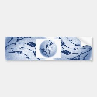 Fleur bleue autocollant de voiture