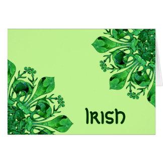 Fleur chanceux de lis de St Patrick Carte De Vœux