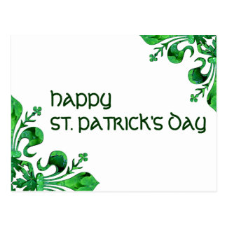 Fleur chanceux de lis de St Patrick Carte Postale