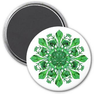 Fleur chanceux de lis Magnet de St Patrick Magnet Rond 7,50 Cm