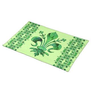Fleur chanceux de lis Placemats 2 de St Patrick Sets De Table