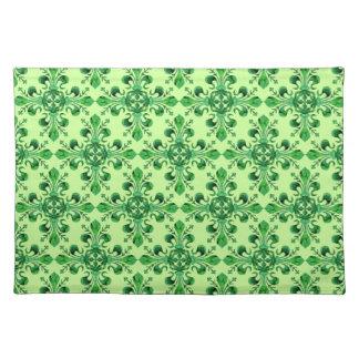 Fleur chanceux de lis Placemats de St Patrick Set De Table