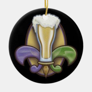 Fleur de Beer Ceramic Ornament