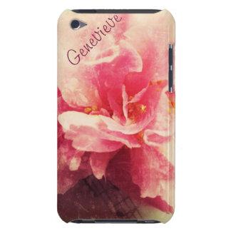 fleur de camélia avec le cas de contact d'iPod de  Coque iPod Touch