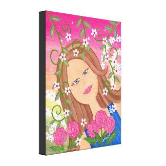 Fleur de chardon - la fille 16x20 féerique badine toiles