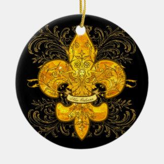 Fleur de Guardian Ceramic Ornament