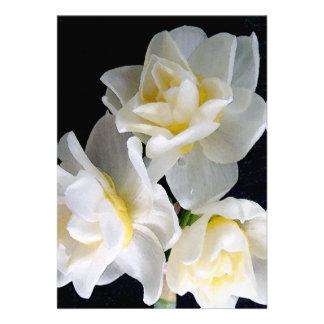 Fleur de Jonquil - 3 1 d Ecclesiastes Invitations Personnalisées