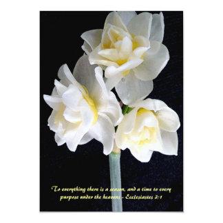 Fleur de Jonquil - 3:1 d'Ecclesiastes Carton D'invitation 12,7 Cm X 17,78 Cm