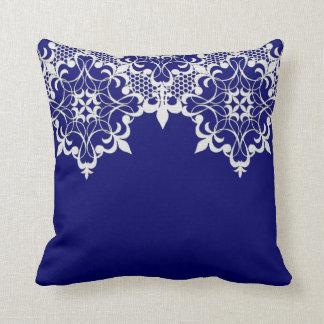 Fleur De Lace Blue Pillow