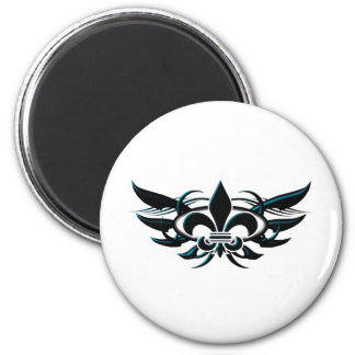 Fleur De Li (wings) 2 Inch Round Magnet