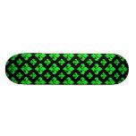 Fleur De Lis 2 Green Skate Board