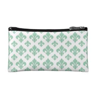 Fleur De Lis 2 Hemlock Cosmetic Bags