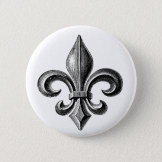 Fleur-de-Lis 2 Inch Round Button