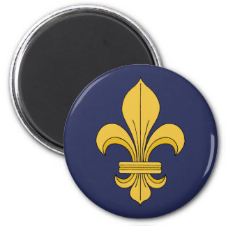 Fleur-de-lis 2 Inch Round Magnet