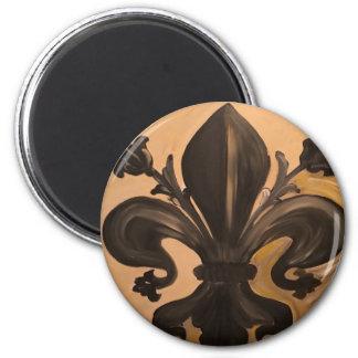 Fleur De Lis 2 Inch Round Magnet