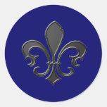 Fleur-de-Lis-2 Round Sticker