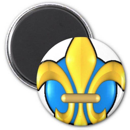 Fleur-de-lis-3d Magnet