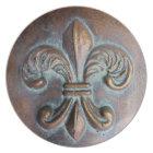 Fleur De Lis, Aged Copper-Look Printed Plate