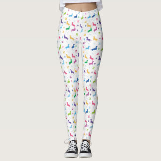 Fleur De Lis and Dachshunds Leggings