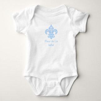 Fleur de Lis bébé™ Baby Bodysuit, Blue Baby Bodysuit