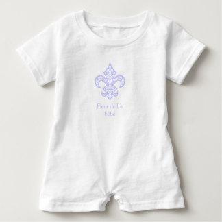 Fleur de Lis bébé™ Baby Bodysuit Romper, Lavender