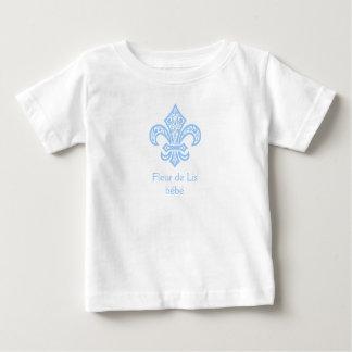 Fleur de Lis bébé™ Baby/Toddler T-Shirt White/Blue