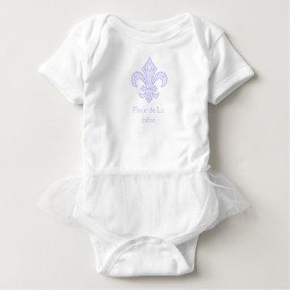 Fleur de Lis bébé™ Baby Tutu Bodysuit, Lavender Baby Bodysuit