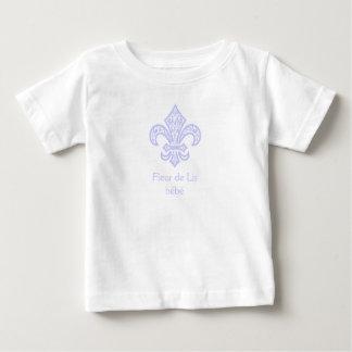 Fleur de Lis bébé™ White/Lavender Baby T-Shirt