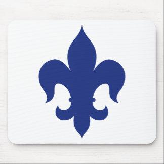 Fleur De Lis - Blue - Solid Mousepads
