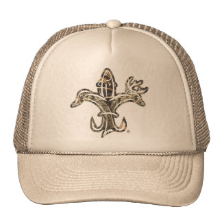 fleur de lis camo trucker hat