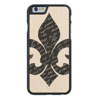 Fleur De Lis Carved Maple iPhone 6 Case