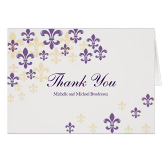 Fleur de Lis Cascade Thank You Card