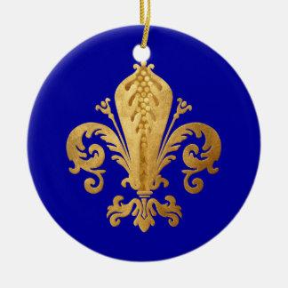 Fleur-de-lis Ceramic Ornament