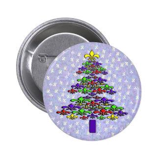 Fleur de Lis Christmas Tree Pins