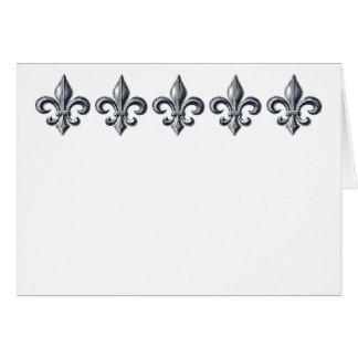 Fleur de lis customizable note or greeting card