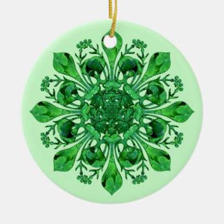 Fleur de lis de St Patrick Ornement Rond En Céramique