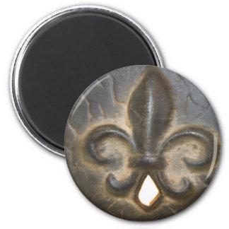 Fleur De Lis Design 2 Inch Round Magnet