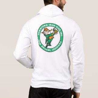 Fleur-de-lis/DIC Logo White Zip Hoodie