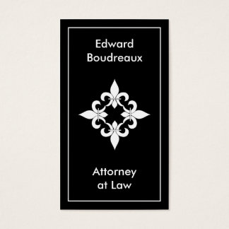 Fleur de Lis Ebony Business Cards