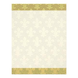 Fleur de lis elegant stylish custom letterhead