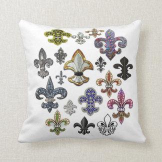 Fleur De Lis Flor  New Orleans Jewel Pillow