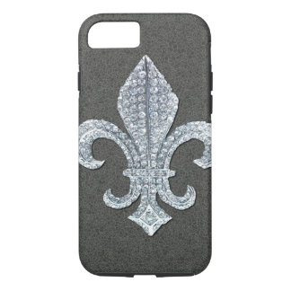 Fleur De Lis Flor  New Orleans Stone Jewel iPhone 8/7 Case
