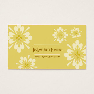 Fleur de Lis Flower Business Card