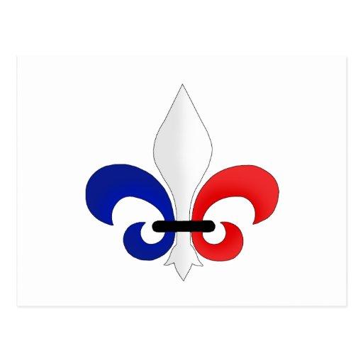 Fleur de lis France flag colours Post Cards   Zazzle