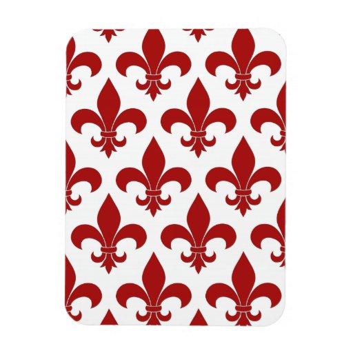 Fleur de lis French Pattern Parisian Design Rectangular Magnets