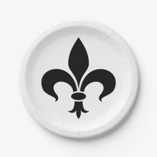 Fleur de Lis French Themed Party Paper Plates
