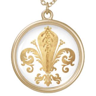 Fleur-de-lis Gold Plated Necklace