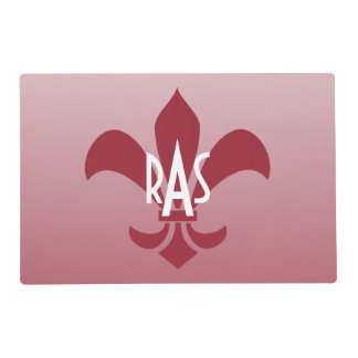 Fleur de Lis Gradient Faded Light *Pick Any Color* Laminated Place Mat